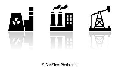 black industrial set