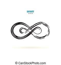 Black infinity, moebius or infinite vector symbol, logo,...