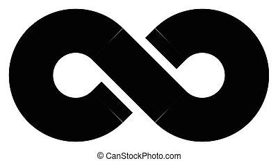 Black infinity symbol icon. Concept of infinite, limitless...