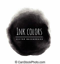 black ink background