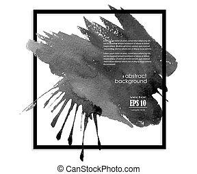 black ink blot banner