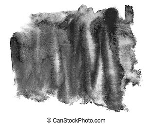 black ink hand painted brush stroke