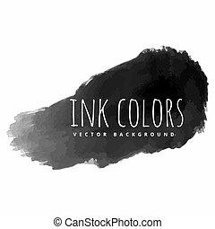 black ink paint strokes