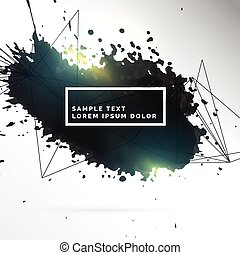 black ink patch abstract background