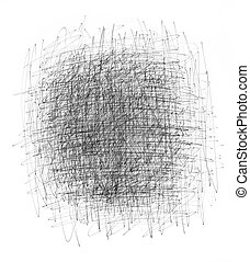 Hand-drawn scratchy black ink background, isolated on white.