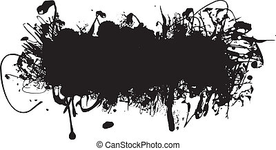 black ink splash