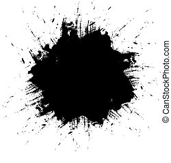 black ink splash background
