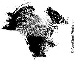 black ink splash background, vector