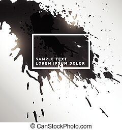 black ink splatter grungy background