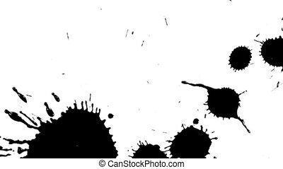 black ink spots on white