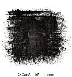 Black ink square - abstract background