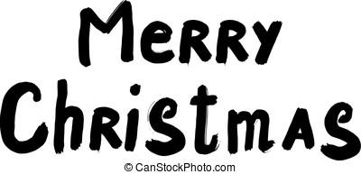 Black inscription Merry Christmas