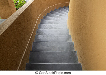 Black interior stairs