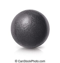 Black iron ball 3D illustration