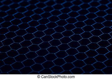 Black iron grid texture. Industrial background