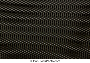 Black iron speaker grid texture, seamless pattern