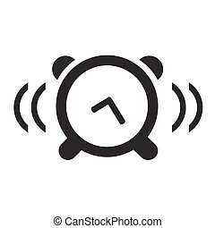 Black isolated clock icon on white background vector