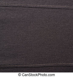Black jeans cloth material fragment