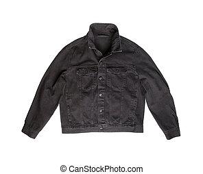 Black jeans jacket.