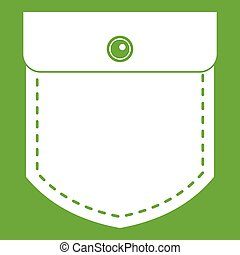 Black jeans pocket icon green