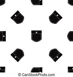 Black jeans pocket pattern seamless black