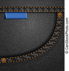 Black jeans pocket