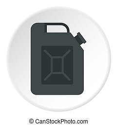 Black jerrycan icon circle