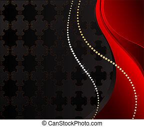 black jewelry background - luxurious figured dark background...