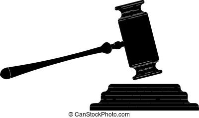 black judge hammer