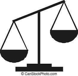 Black Justice scale icon Vector illustration