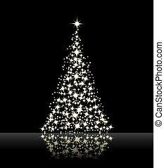 black , kerstmis, achtergrond