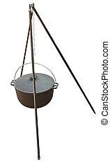 black kettle for campfire on tripod - big black kettle for...