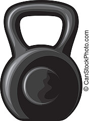 black kettlebell (black iron kettlebell for weight training,...