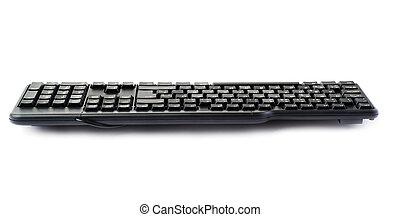 Black keyboard isolated over white background