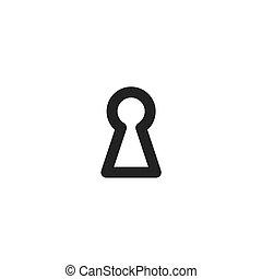 black keyhole icon