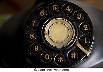 keypad of an old telephone