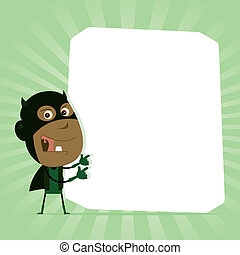 Black Kid Super Hero Sign