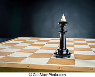 King on the chess board