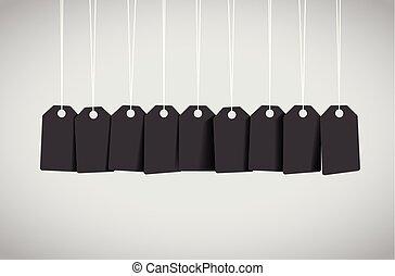 black , label, set