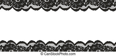 Black lace borders