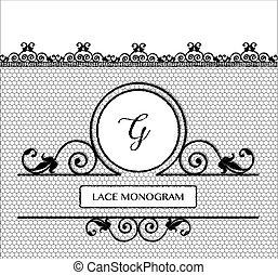 BlacK lace monogram G
