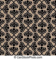 Black lace seamless pattern