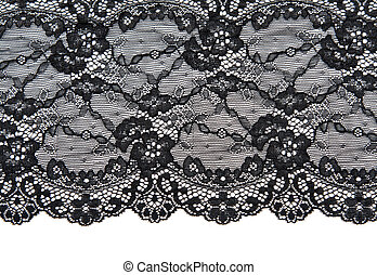 Black lace with pattern with form flower