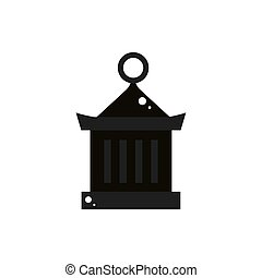 black lamp culture traditional japan icon