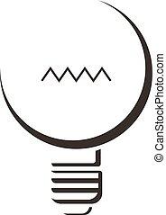 Black lamp icon, cartoon style