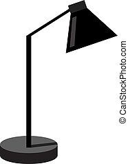 Black lamp, illustration, vector on white background.