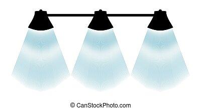 black lamp silhouette
