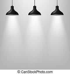 Black Lamp With Grey Wal