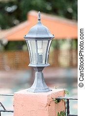 Black lantern of modern.
