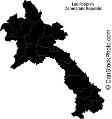 Laos Map Highly Detailed Vector Map Of Laos With Vector Clip - Laos map vector